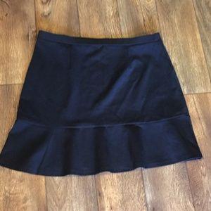 Loft Skirt Black Ruffle Hem XL
